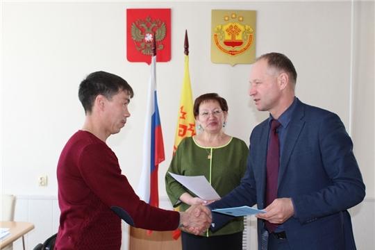 В Урмарском районе состоялась торжественная регистрация новорожденного