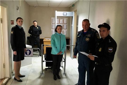 Проведено обследование помещений судебных участков мировых судей Вурнарского района