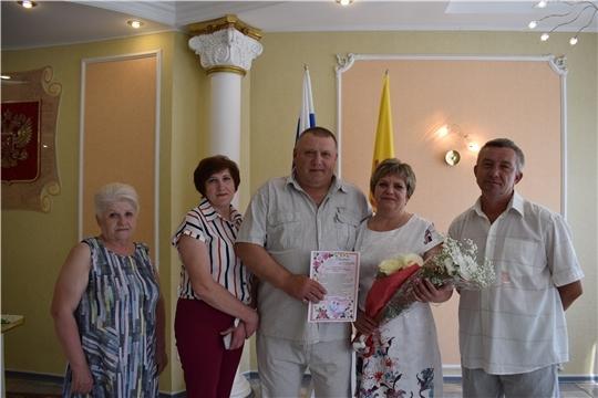 «Серебряную» годовщину брака отметили супруги Лашпановы из Алатыря
