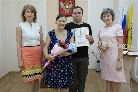 В Ленинском районе г.Чебоксары зарегистрирован 800-ый новорожденный