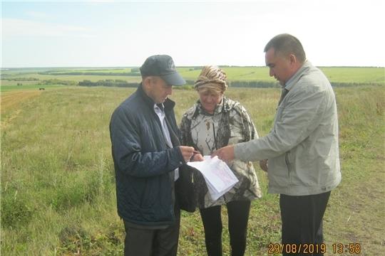 Проверка использования земельных участков собственниками земельных долей в Урмарском районе