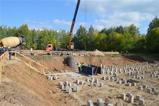 В Чувашии в рамках проекта «Дом для учителя» заложен фундамент первого дома жилищного комплекса «Гастелло»