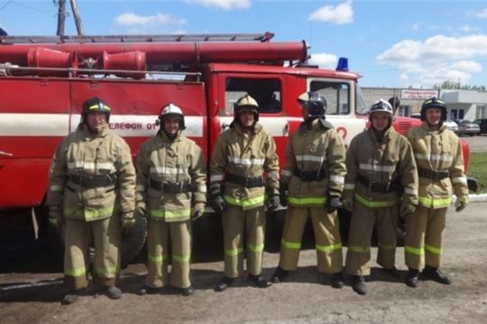Моргаушские огнеборцы серебряные призеры республиканских соревнований по пожарно-спасательному спорту