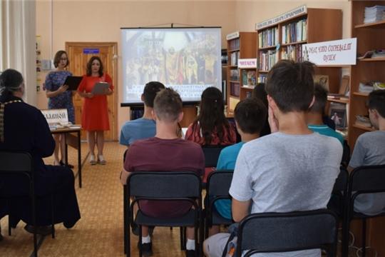 В Межпоселенческой центральной библиотеке состоялся исторический калейдоскоп «Как крестили Русь» с участием отца Феодора Ягушова