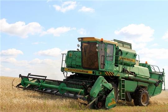 В Моргаушском районе уборка урожая набирает обороты