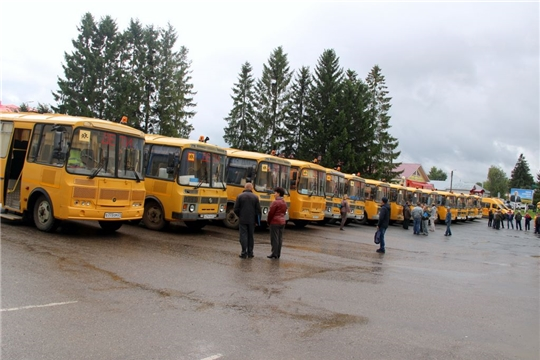 Школьные автобусы готовы к перевозке юных  пассажиров