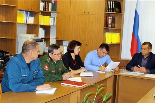 В Моргаушском районе проходит штабная тренировка по мобилизационной подготовке