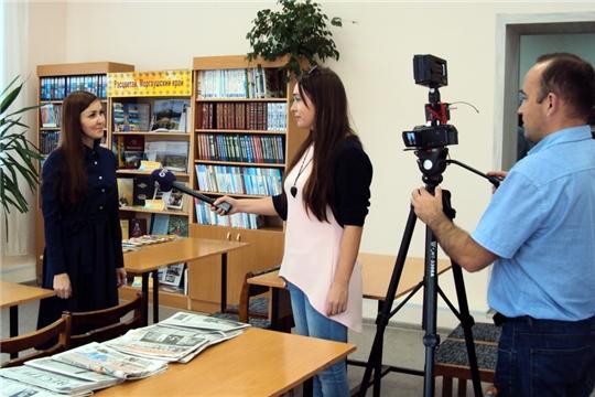 В Большесундырской сельской библиотеке побывала съемочная группа Общественного телевидения России