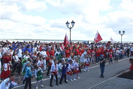Нам – 550: жители Московского района г. Чебоксары начали свое праздничное утро с зарядки