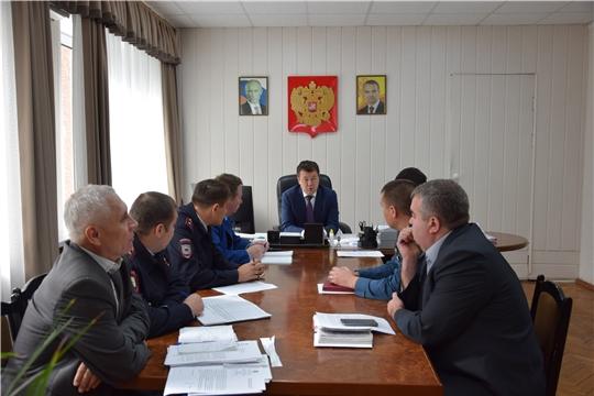 Вопросы охраны общественного правопорядка обсуждены в администрации Московского района г. Чебоксары