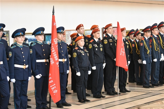Новочебоксарские кадеты приняли участие в открытии V республиканской общественной патриотической акции «Часовой у Знамени Победы»