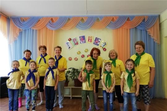 Новочебоксарский ЦСОН провел спортивную эстафету с дошколятами