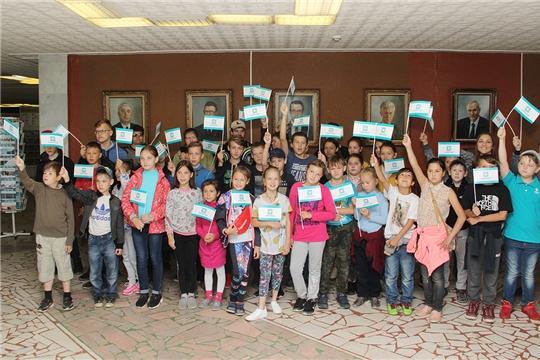 Музей «Химпрома» посетили воспитанники Новочебоксарского социально-реабилитационного центра