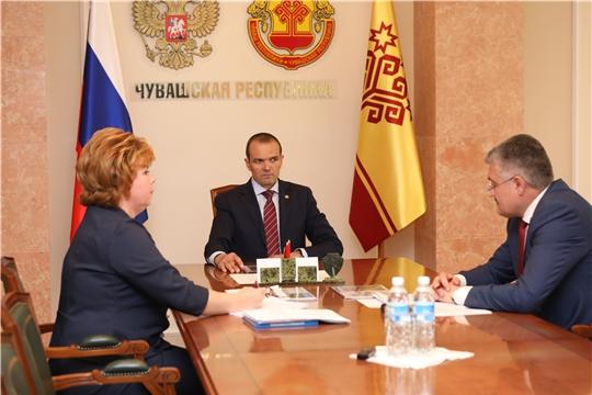 Михаил Игнатьев обсудил перспективы развития Новочебоксарска с главой администрации города