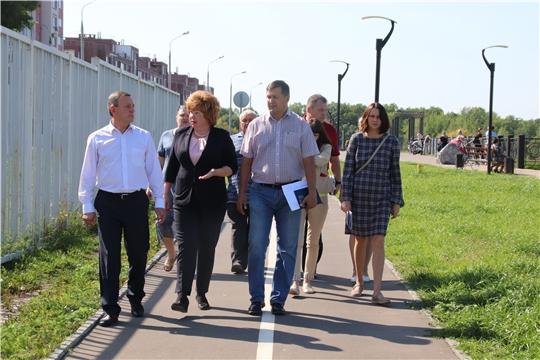 Министр физической культуры и спорта Чувашии Михаил Богаратов с рабочим визитом посетил Новочебоксарск