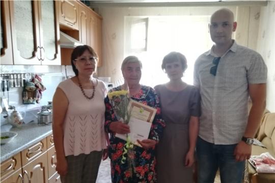 90 лет исполнилось жительнице Новочебоксарска, ветерану труда и ветерану Великой Отечественной войны Андреевой Анастасии Ивановне