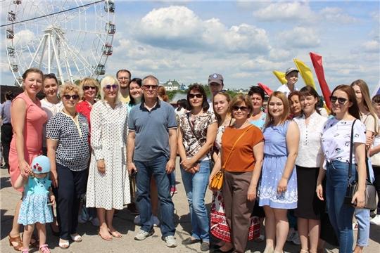 Коллектив Минобразования Чувашии принял участие в  мероприятии, посвященном Дню России
