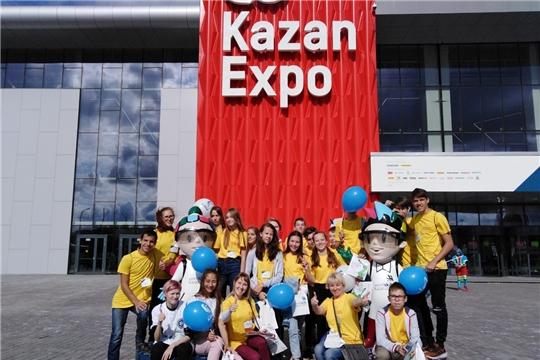 Делегации школьников и студентовЧувашии посетили площадки мирового чемпионата WorldSkills Kazan 2019
