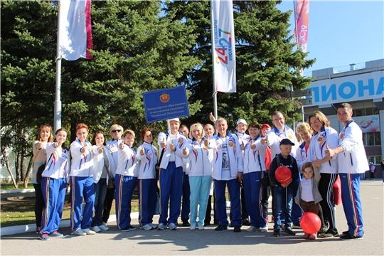 Команда Минобразования Чувашии приняла участие в эстафете газеты «Советская Чувашия»