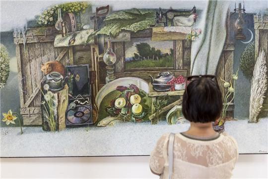 Состоялось открытие выставки живописи и графики заслуженного художника Российской Федерации Анатолия Рыбкина «Сохранившие память…» (Земля и люди родной Чувашии)