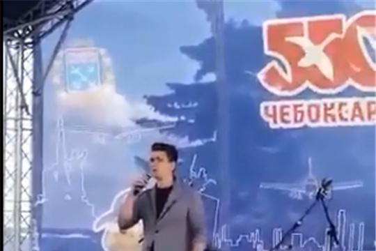 Наш земляк молодой оперный певец Владимир Лебедев поздравил чебоксарцев с 550-летием города