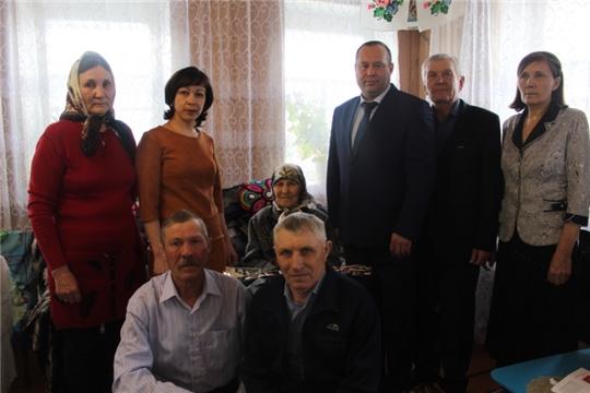 Жительница деревни Какерли-Шигали Шемуршинского района отметила 90 - летний юбилей