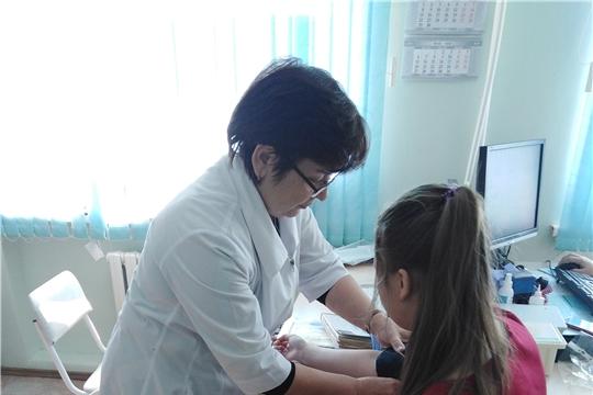Специалисты Республиканской детской клинической больницы и Центра здоровья для детей Шемуршинского района провели выездной прием
