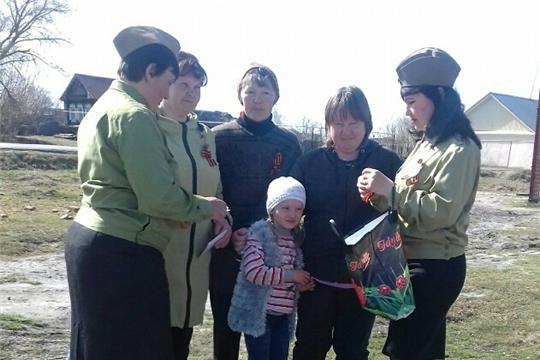 Трёхбалтаевский центральный сельский Дом Культуры присоединился к акции «Георгиевская ленточка»