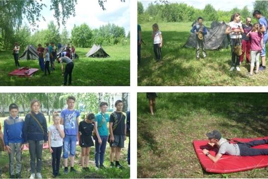С 1 по 3 июня в МБОУ «Старочукальская ООШ» организованы отдых и занятость детей и подростков в условиях палаточного лагеря