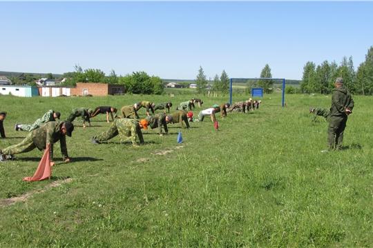 На базе МБОУ «Карабай-Шемуршинская СОШ» прошли пятидневные учебные сборы