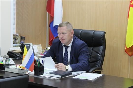 Состоялось еженедельное совещание под председательством главы администрации Шемуршинского района Владимира Денисова