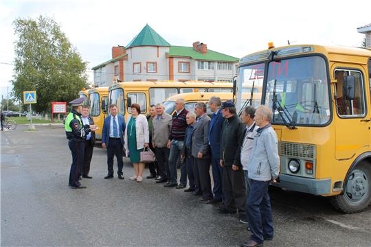 Приемка школьных автобусов к новому учебному году