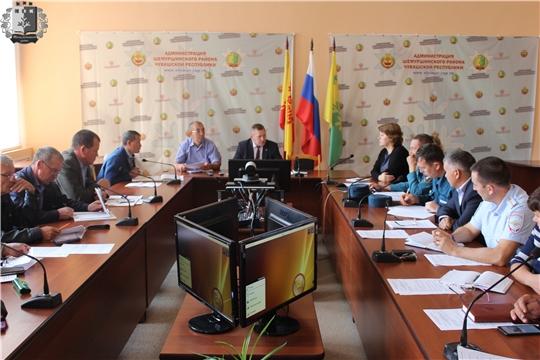 В администрации Шемуршинского района проведено заседание КЧС и ОПБ
