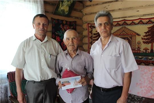 Вручение персонального поздравления с 90-летием  от Путина В.В. Логину Павлу Анисимовичу
