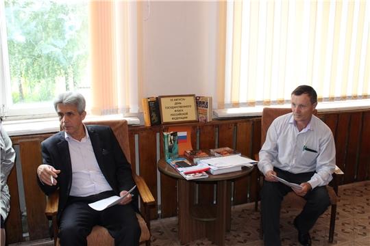 Рабочая поездка главы администрации Шумерлинского района Льва Рафинова в Егоркинское и Ходарское сельские поселения.