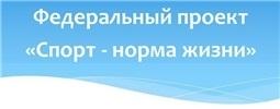 """Федеральный проект """"Спорт - норма жизни"""""""