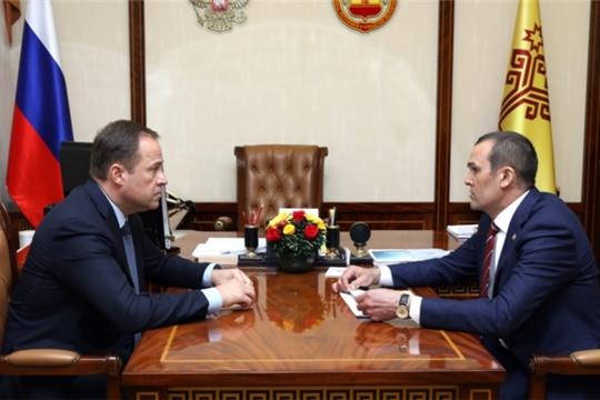 Состоялась рабочая встреча Игоря Комарова и Михаила Игнатьева