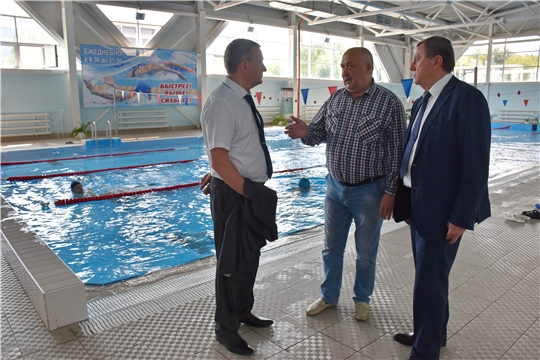 Рабочий визит в Чувашию вице-президента Всероссийской федерации плавания Игоря Горина