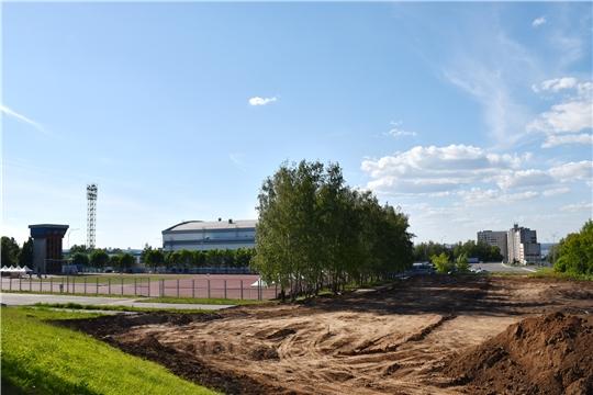 "Строительство на территории стадиона ""Олимпийский"" разминочного сектора для метаний"