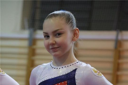 Юная чебоксарка Елена Герасимова выступает на юниорском первенстве мира по спортивной гимнастике
