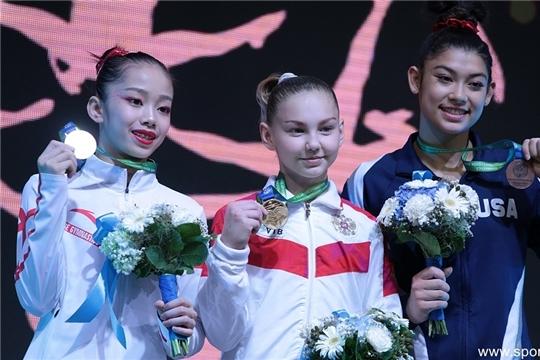 Елена Герасимова завоевала три медали на первом в истории юниорском первенстве мира по спортивной гимнастике