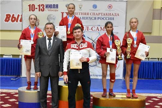 Самбисты Чувашии завоевали 3 медали в первый день финальных соревнований IX летней Спартакиады учащихся России