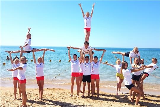 Сборная команда Чувашии по спортивной аэробике приняла участие во всероссийских тренировочных сборах
