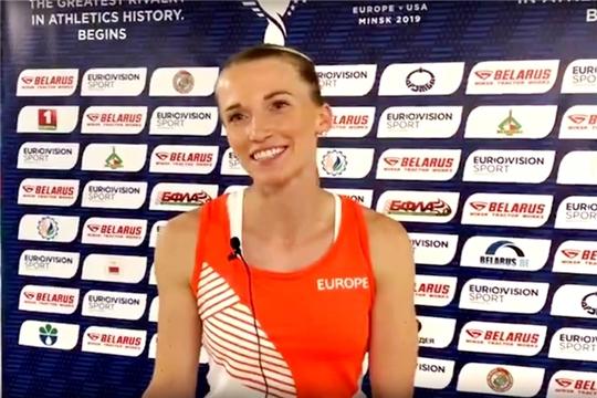 Анжелика Сидорова завоевала «золото» в легкоатлетическом матче Европы и США