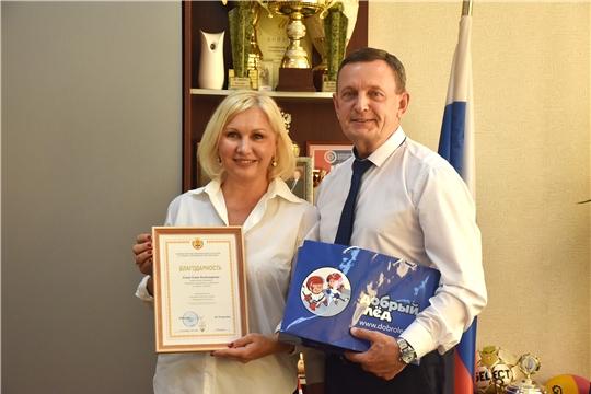 Михаил Богаратов встретился с руководителем Академии спортивных исследований по хоккею с шайбой Еленой Хомко