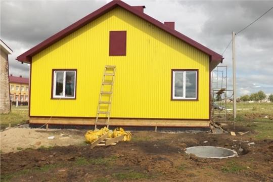 В деревне Шихабылово Урмарского района продолжается строительство нового фельдшерско-акушерского пункта