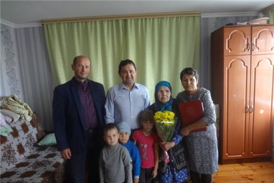 Жительнице поселка Урмары исполнилось 90 лет