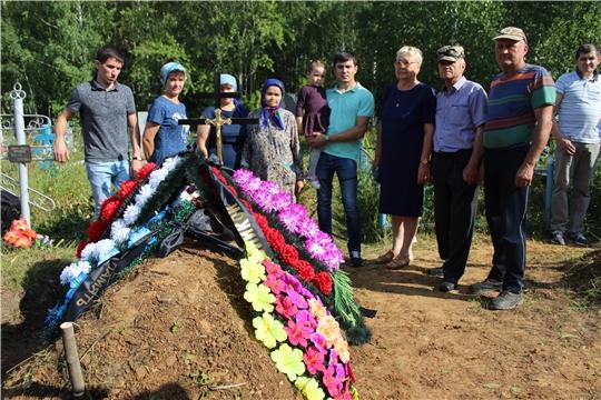 Сегодня, 20 августа, в селе Шигали Урмарского района состоялась церемония захоронения останков советского солдата Иванова Данила Ивановича