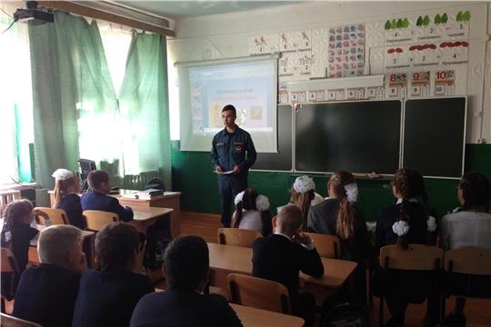 В школах района прошли уроки пожарной безопасности