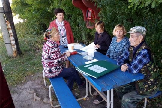 Выездной день администрации Тегешевского сельского поселения в деревне Новое Муратово